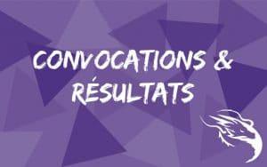 convocations et résultats